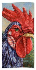 Wild Blue Rooster Hand Towel