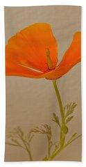 Wild California Poppy No 1 Hand Towel