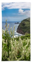 Wild Flowers At Pololu Hand Towel by Denise Bird