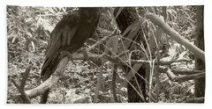 Bath Towel featuring the photograph Wild Hawaiian Parrot Sepia by Joseph Baril