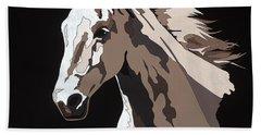 Wild Horse With Hidden Pictures Hand Towel