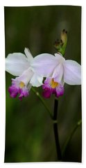 Wild Orchid Bath Towel by Pamela Walton