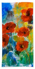 Bath Towel featuring the painting Wild Poppies by Elise Palmigiani