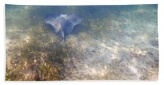 Bath Towel featuring the photograph Wild Sting Ray by Eti Reid