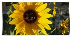 Wild Sunflower Hand Towel by Nadja Rider