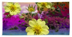 Wildflower Abstract Bath Towel by Mike Breau