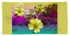 Wildflower Abstract Bath Towel