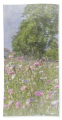 Wildflower Impressionism Bath Towel