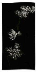 Wildflower In Black Hand Towel