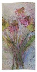 Hand Towel featuring the painting Wildflowers 2 by Mary Wolf