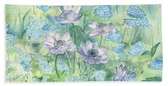 Wildflowers Bath Towel by Elizabeth Lock