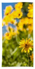 Wildflowers Standing Out Abstract Bath Towel by Chad Dutson