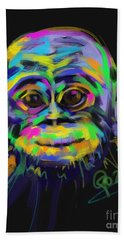 Wildlife Baby Chimp Hand Towel by Go Van Kampen