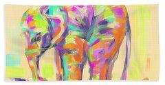 Wildlife Baby Elephant Hand Towel
