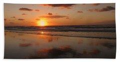 Wildwood Beach Sunrise Hand Towel by David Dehner