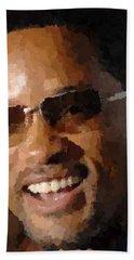 Will Smith Portrait Bath Towel
