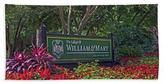 William And Mary Welcome Sign Hand Towel by Jerry Gammon