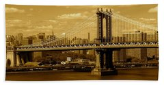 Williamsburg Bridge New York City Bath Towel