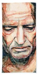 Willie Nelson  Bath Towel by Laur Iduc