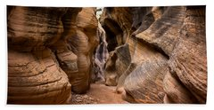 Willis Creek Slot Canyon 6 - Grand Staircase Escalante National Monument Utah Bath Towel
