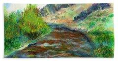 Willow Creek In Spring Bath Towel