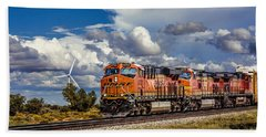 Wind And Rail Hand Towel by Fred Larson