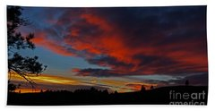 Black Hills Sunset Bath Towel by Bill Gabbert