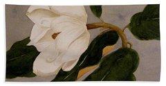 Windblown Magnolia Bath Towel by Nancy Kane Chapman