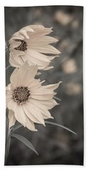 Windblown Wild Sunflowers Bath Towel