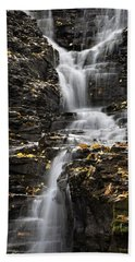 Hand Towel featuring the photograph Winding Waterfall by Christina Rollo