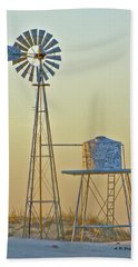 Windmill At Dawn 2011 Hand Towel