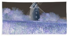 Windmill In A Purple Haze Bath Towel