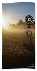 Windmill In The Fog Bath Towel