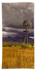 Windmill Bath Towel by Robert Bales