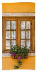 Window With Flowers Hand Towel