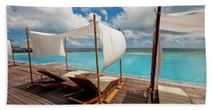 Bath Towel featuring the photograph Windy Day At Maldives by Jenny Rainbow