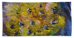Bath Towel featuring the painting Windy by Laurie L