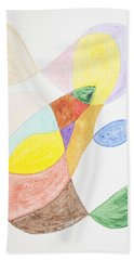 Hand Towel featuring the painting Windy  by Stormm Bradshaw