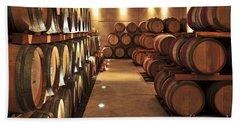Wine Barrels Hand Towel