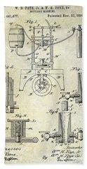 1890 Wine Bottling Machine Bath Towel