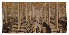 Wine Cellar At Jerez De La Frontera  Bath Towel