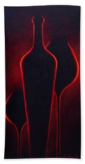 Bath Towel featuring the painting Wine Glow by Sandi Whetzel