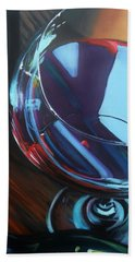 Wine Reflections Hand Towel by Donna Tuten