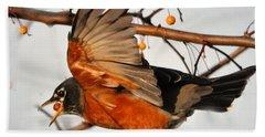 Wings Of A Robin Bath Towel