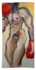 Hand Towel featuring the painting Winner by Carolyn Weltman