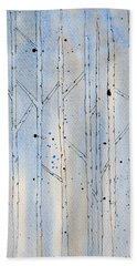 Winter Abstract Bath Towel by Rebecca Davis