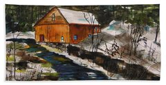 Hand Towel featuring the painting Winter Afternoon by John Williams