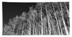 Bath Towel featuring the photograph Winter Aspens by Roselynne Broussard