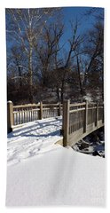 Winter At Creekside Bath Towel