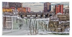 Winter At High Falls Hand Towel by William Norton